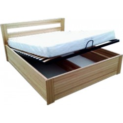 Łóżko bukowe z pojemnikiem...