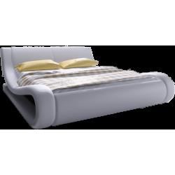 Łóżko tapicerowane ze...